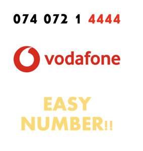 Vodafone Sim Card Easy Mobile Number GOLD VIP Fancy '074 072 1 4444' EASY NUMBER