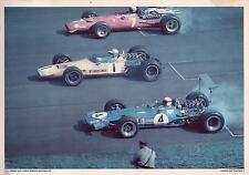 COURSE AUTOMOBILE F1 - MATRA ELF type MS 10 - Jackie Stewart  - publicité elf