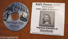 Vendo programma di FOTORITOCCO CD ROM PC KAI'S POWER GOOMETATOOLS SPECIAL