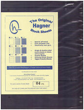 Original Hagner Stock Sheets - 4 Strip Single Sided - Pack of 10