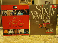 LIFE: Our Century in Pictures for Young People & Sixty Years 1936-1996 2 Books