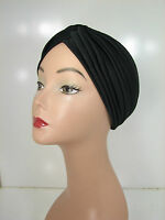 Pick 1, Superior Quality Stretchable Turban Hat Black White Brown Navy Gray KT17