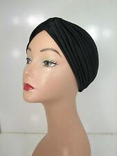 Black Superior Quality Stretchable Turban Hat Sale! KT17