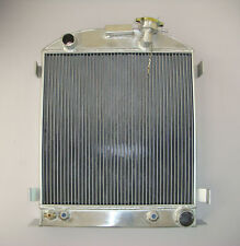 "NEW 3 ROW/CORE ALUMINUM RADIATOR FORD MODEL-CHEVY ENGINE CHOPPED 3"" 1937-1938"