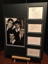 More details for beyond the fringe peter cook dudley moore genuine signed 18x14 display uacc coa