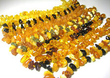BALTIC AMBER GEMSTONE ANKLET/BRACELET 10.5-11 INCH - Choose your color