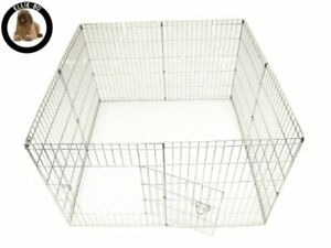 Outdoor Pet Playpen Dog Puppy Rabbit Run Play Pen Enclosure Fence Foldable UK