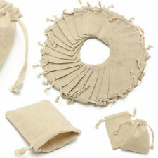 30x Small Bag Natural Linen Pouch Drawstring Burlap Jute Sack Jewelry Gift Wed