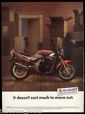 1990 SUZUKI Motorcycle advertisement, Suzuki GS500E bike, Move Out