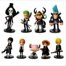 9pcs One Piece anime strong world  monkey d luffy chopper figure doll set