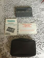 Franklin Spelling Ace Sa-98 with Users Manual and Case