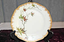 Antique Haviland China Plate - 1887, Hand Painted: Signed & Dated 1889    S3796