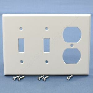 Leviton White 3-Gang Duplex Receptacle Outlet Cover Wallplate Switchplate 88021