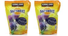2 bags (3.5 Lbs/56 oz each) Kirkland Sunsweet Dried Plums Pitted Prunes Fiber