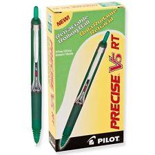 Pilot V5 RT Retractable Rolling Ball, Extra Fine, Green (PIL 26065) - 12/pk