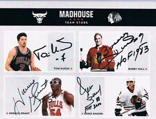 SIGNED Bobby Hull Denis Savard Horace Grant Toni Kukoc Chicago Bulls Blackhawks