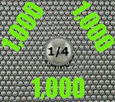 "1,000 QTY  1/4"" SLINGSHOT STEEL BALLS Made in USA"