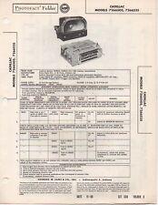 1956 CADILLAC 7266505 7266535 RADIO SERVICE MANUAL PHOTOFACT SCHEMATIC DIAGRAM
