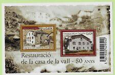 ANDORRA (FR) Sc 700 NH SOUVENIR SHEET of 2012 - HISTORICAL PLACES