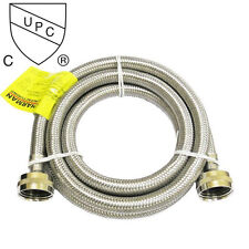 6 Foot Stainless Steel Braided Washing Machine Connector
