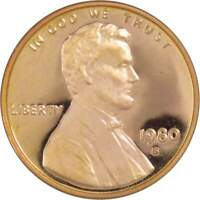 1980 S 1c Lincoln Memorial Cent Penny US Coin Choice Proof