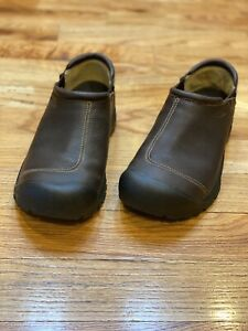 KEEN Targhee Brown Leather Slip-On Shoes For Men Size 11.5