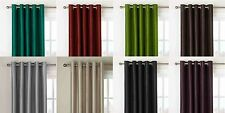 Faux Silk Curtains Extra Long Drop New Colour Solid 90x90 Eyelet