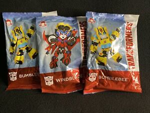 TRANSFORMERS WENDY'S KIDS MEAL TOYS SET OF 3 BUMBLEBEE WINDBLADE ACTION FIGURES