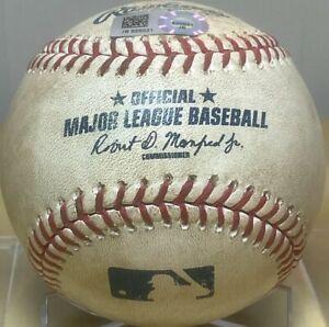 BUSTER POSEY SINGLE CAREER HIT #925 GAME-USED MLB BASEBALL GIANTS v A's 6/29/16