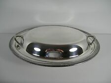 Vintage Silver Plated Covered Oval 12 Inch Serving Dish Wm Rogers Mfg Co #4212