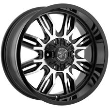 """4-18"""" Inch Panther Offroad 580 18x9 6x135/6x5.5"""" +0mm Black/Machined Wheels Rims"""
