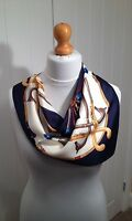 100% silk scarf, 60cmx60cm. Striking equestrian design. Gift wrapping available