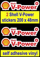 2 Shell V-Power sponsor stickers Racing Car Motorcycle decals van truck toolbox