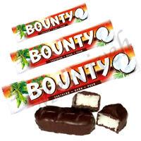 BOUNTY DARK CHOCOLATE TWIN BARS ORIGINAL 24 X 57g BARS - 2, 4, 8, 24 BAR