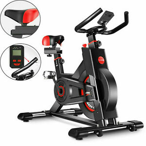 Pro Exercise Bike Fitness Cycling Gym Home Bike Heavy Duty Indoor W/ LED Monitor