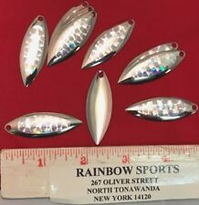 10 Worm Spinner Bait Blade Willow Leaf #4 Nickel Special Silver Oval Face