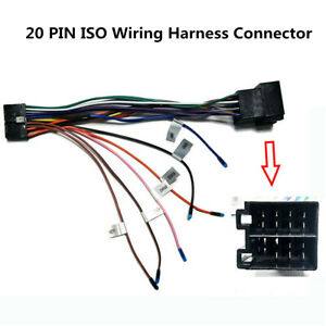 Android Multimedia Car Stereo DVD Player 20 PIN Wire Harness Connector Adapter