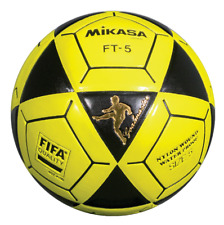 Mikasa FT5 Goal Master Soccer Ball Size 5 Yellow/Black Official Footvolley Ball
