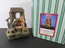 San Francisco Music Box Holy Family in Stable Window Musical Nativity Figurine