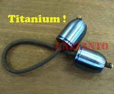 Blue Begleri Titanium Ti Bullet shaped Parachute Cord toy lanyard worry beads