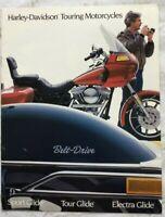 Harley-Davidson Touring Motorcycles 1984 Brochure Sport Glide Tour Glide Electra