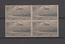 India 1955,Cape Comorin 1Re 2As MNH Block of 4 Stamps