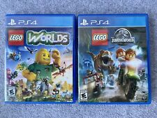 LEGO Worlds and Jurassic World PS4 Playstation 4