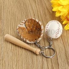 Novelty Cute Baseball Glove Bat Key Chain Sports Keyring Keychain Christmas Gift