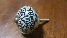 Hand-made Hand-painted Ceramic Drawer Knob - Flowers - S61