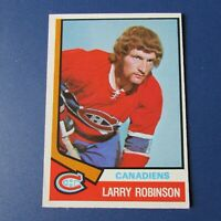 LARRY ROBINSON 1974-75 O-Pee-Chee  # 280 Montreal Canadiens Nr-Mint  1975  74-75