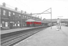 PHOTO  1977 GUIDE BRIDGE RAILWAY STATION - FAST LINE PLATFORMS A HADFIELD-MANCHE