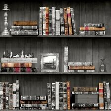 BOOKCASES WALLPAPER - BLACK HOLDEN 11951 - LIBRARY BOOKS STUDY