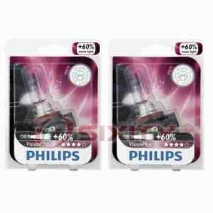 2 pc Philips Front Fog Light Bulbs for MG TF 2003-2005 Electrical Lighting mj
