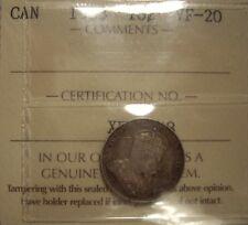 Canada Edward VII 1903 Silver Ten Cents - ICCS VF-20